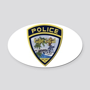 Cape Coral Police Oval Car Magnet