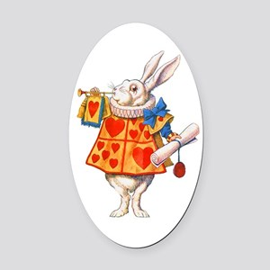 ALICE - THE WHITE RABBIT Oval Car Magnet