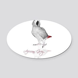africangreyparrotgifts Oval Car Magnet