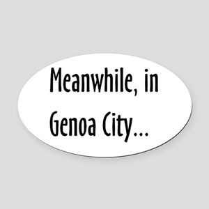 genoa city Oval Car Magnet