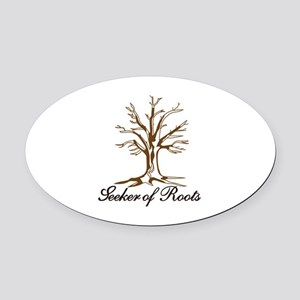 Seeker of Roots Oval Car Magnet