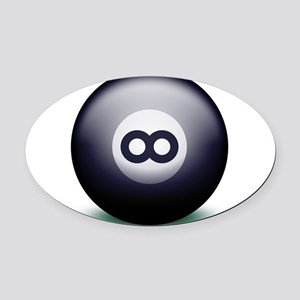 Infinity Eight Ball Oval Car Magnet