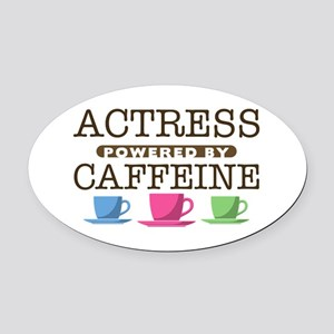 Actress Powered by Caffeine Oval Car Magnet