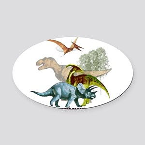 cretaceous Oval Car Magnet