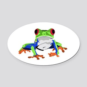 Frog Oval Car Magnet