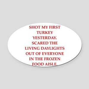 turkey shoot Oval Car Magnet