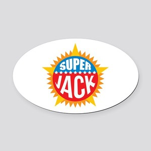 Super Jack Oval Car Magnet