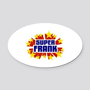 Frank the Super Hero Oval Car Magnet