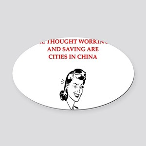funny divorce my husband joke Oval Car Magnet