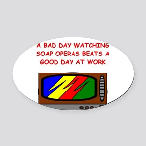 funny soap opera television tv joke Oval Car Magne