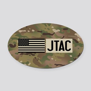 U.S. Air Force: JTAC (Camo) Oval Car Magnet