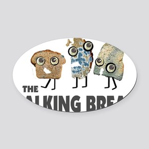 the walking bread Oval Car Magnet