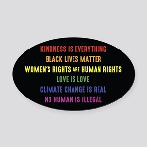 The Truth Oval Car Magnet
