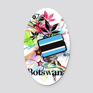 flower1Botswana1 Oval Car Magnet