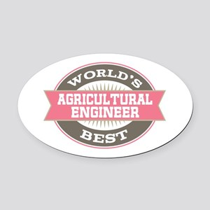 agricultural engineer Oval Car Magnet