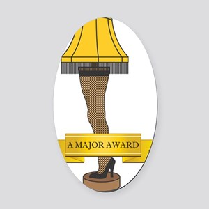A Major Award Ribbon Oval Car Magnet
