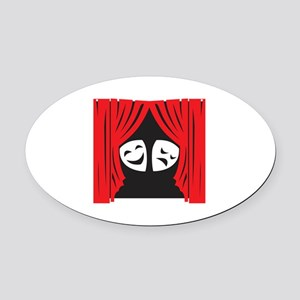 LIVE THEATRE Oval Car Magnet