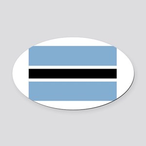 Botswana-1-[Converted] Oval Car Magnet
