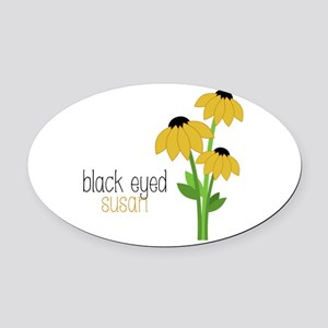 Black-Eyed Susan Oval Car Magnet