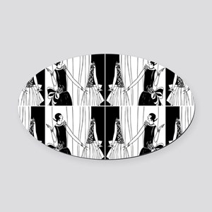 1920s flapper 2 Oval Car Magnet