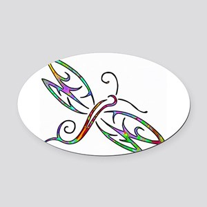 Colorful dragonfly Oval Car Magnet
