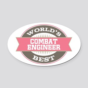combat engineer Oval Car Magnet