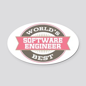 software engineer Oval Car Magnet