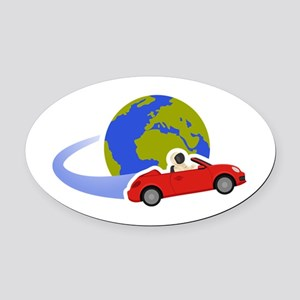 Where Is Roadster Swoosh Logo Oval Car Magnet