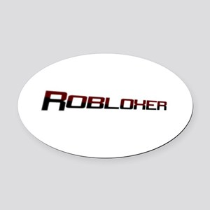 Robloxerloo Oval Car Magnet