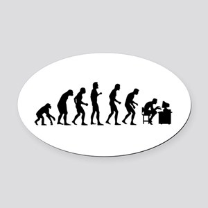 Evolution Oval Car Magnet