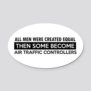 Air Traffic Controllers Designs Oval Car Magnet