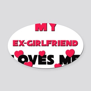 EX-GIRLFRIEND Oval Car Magnet