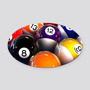 Billiard Balls Oval Car Magnet