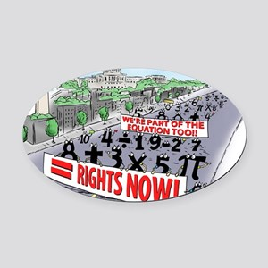 Pi_74 Equal Rights (20x16 Color) Oval Car Magnet