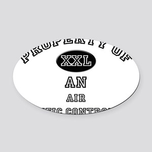 Air-Traffic-Controll77 Oval Car Magnet