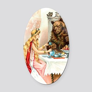 Fairy Tale Collection: Beauty  the Oval Car Magnet
