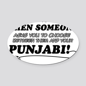 Punjabi Cat Designs Oval Car Magnet
