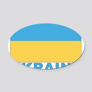 ukraine Oval Car Magnet
