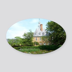 GOVERNORS PALACE FORMAL GARDENS WI Oval Car Magnet