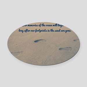 Footprints In The Sand Car Magnets - CafePress