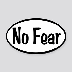 No Fear Oval Oval Car Magnet