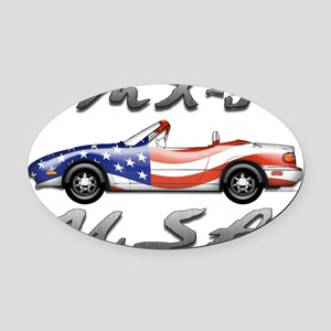 Flag-usa-f Oval Car Magnet