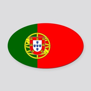 Portugal Oval Car Magnet