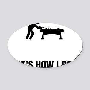 Billiard-And-Pool-ABG1 Oval Car Magnet