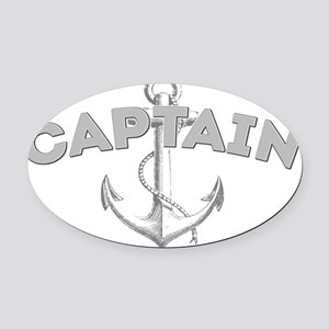 Captain dark Oval Car Magnet