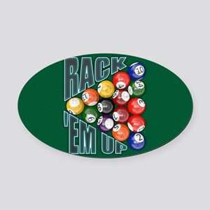 Rack Em Up Oval Car Magnet