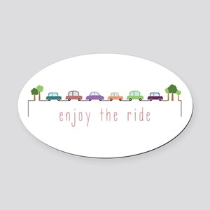 Enjoy The Ride Oval Car Magnet