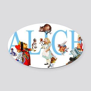 ALICE _special_FINALxx copy Oval Car Magnet
