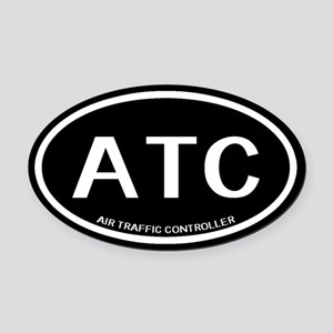 ATC: Air Traffic Controller (Black Oval Car Magnet