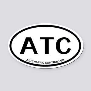 ATC: Air Traffic Controller (White Oval Car Magnet